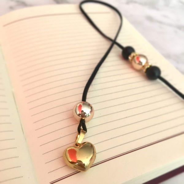 Разделител за книга - златно сърце 1 - ivspiration.com